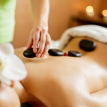 Massage with essential oil